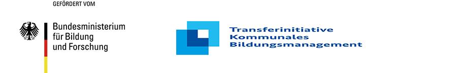 Logoleiste mit Logo des Bundesministeriums für Bildung und Forschung sowie der Transferinitiative Kommunales Bildungsmanagement