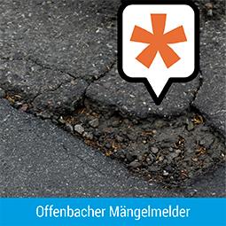 Grafik mit Link zum Offenbacher Mängelmelder