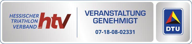 Genehmigungssiegel des Hessisches Triathlon Verbandes